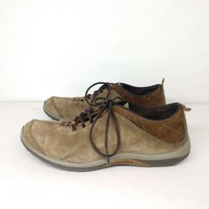 Merrell Brown Suede Leather Lace Up Oxford Shoes